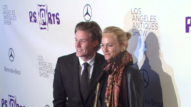 ross cassidy amber valletta at the 15th annual los angeles antiques show 2010 at santa monica ca - neckwear stock videos and b-roll footage