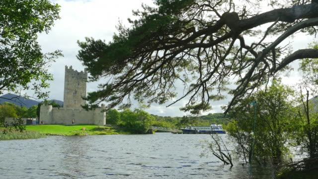 ross castle in killarney national park - castello video stock e b–roll
