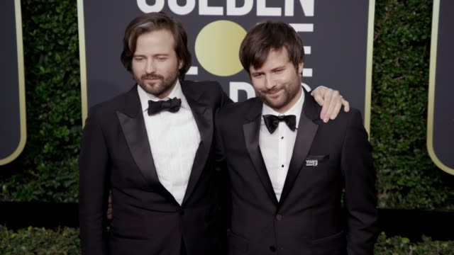 Ross Duffer and Matt Duffer at the 75th Annual Golden Globe Awards at The Beverly Hilton Hotel on January 07 2018 in Beverly Hills California
