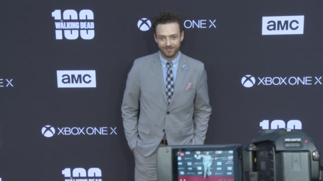 Ross Marquand at the AMC's The Walking Dead 100th Episode Season 8 Special Premiere Screening at The Greek Theatre on October 22 2017 in Los Angeles...