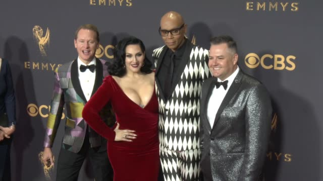 Ross Mathews Michelle Visage RuPaul Carson Kressley at the 69th Annual Primetime Emmy Awards at Microsoft Theater on September 17 2017 in Los Angeles...