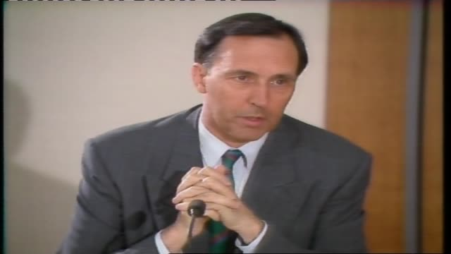 "ross symonds news reader/ laurie wilson reports paul keating at presser this is a recession australia had to have""/ close - recession stock videos & royalty-free footage"
