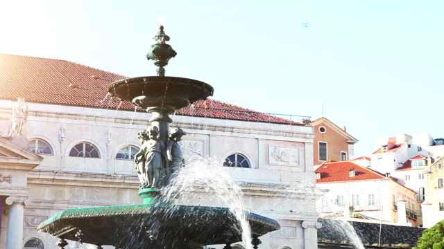 rossio square in lisbon - igneous stock videos and b-roll footage