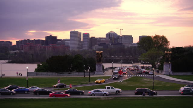rosslyn, arlington city skyline - arlington virginia stock videos and b-roll footage