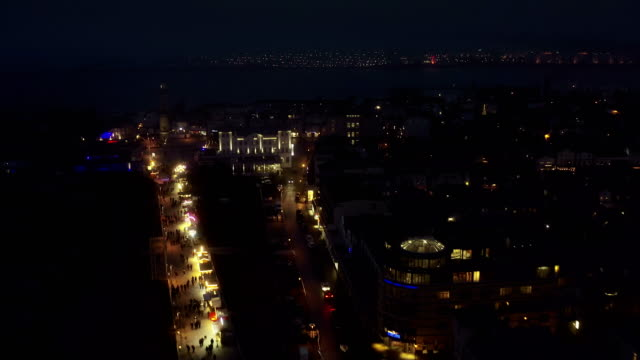 rostock warnemünde aerial view - town stock videos & royalty-free footage
