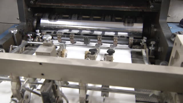 cu, rotary printing press in operation, japan - printing out stock videos & royalty-free footage