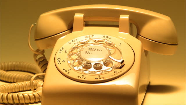 rotary telephone turning - landline phone stock videos & royalty-free footage