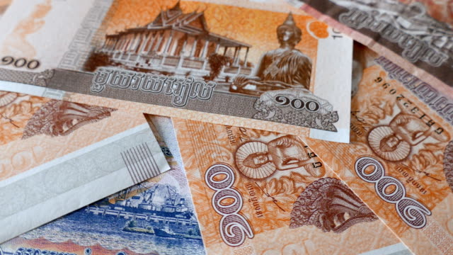 rotate/cambodian money - cambodia stock videos & royalty-free footage