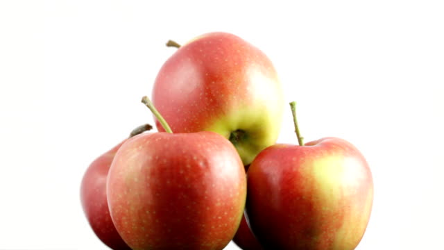 stockvideo's en b-roll-footage met rotating apples - vijf dingen