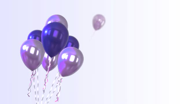 4k 3d rotating balloons background - purple stock videos & royalty-free footage