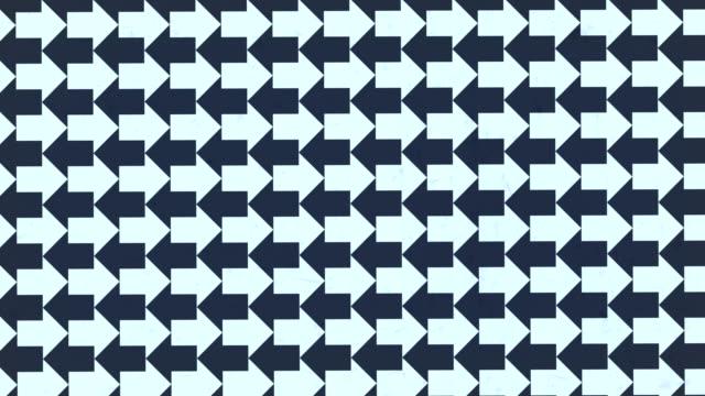 vídeos de stock e filmes b-roll de rotating black and white arrows optical illusion template for decoration design. 3d rendering digital seamless loop animation. 4k, ultra hd resolution - seguir atividade móvel