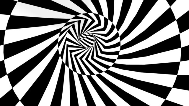 rotating black-and-white tube - illusion stock videos & royalty-free footage