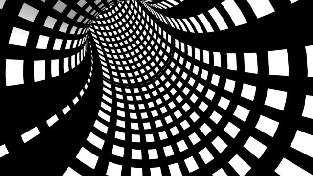 rotierende schwarz-weiß-röhre - gemälde stock-videos und b-roll-filmmaterial
