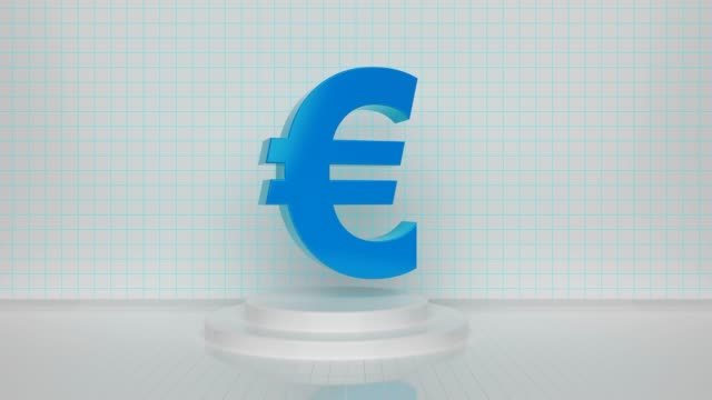 rotating blue loop euro symbol - british pound sterling note stock videos & royalty-free footage