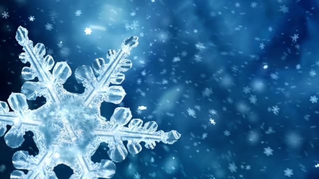 rotating blue snowflake background - silver metal stock videos & royalty-free footage