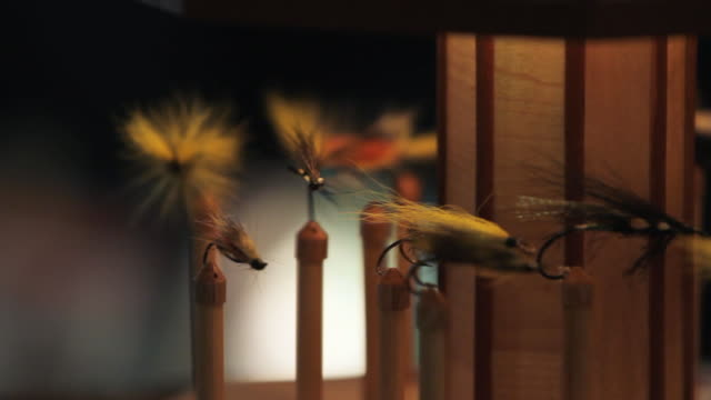 A rotating carousel with fly fishing
