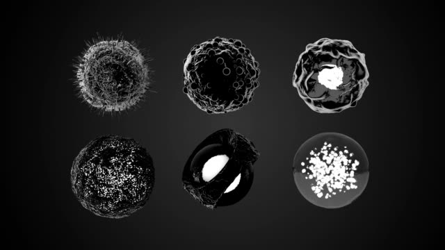 3d rotating cells keyable - nucleus stock videos & royalty-free footage