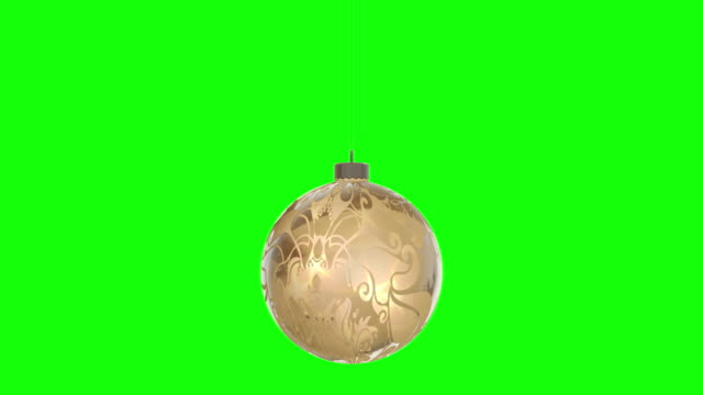 rotating christmas ball, represents merry christmas. seamless loop, isolated greenbox alpha background 4k stock video - christmas decoration stock videos & royalty-free footage