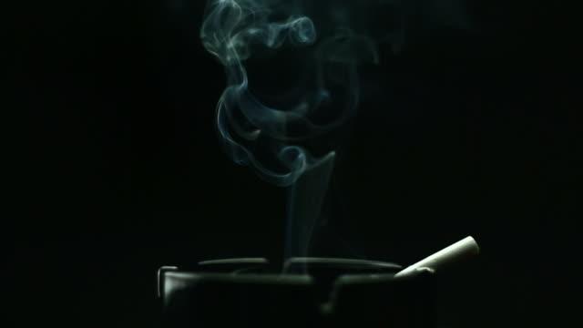 rotating cigarette in ashtray