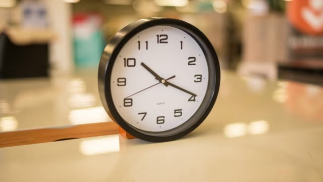 Rotating clock time lapse