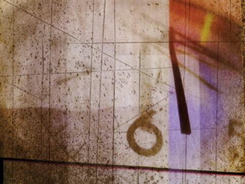 rotating clock - nummer 6 bildbanksvideor och videomaterial från bakom kulisserna