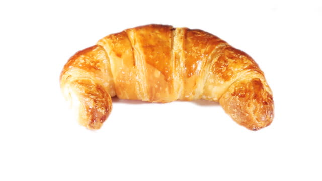 rotating croissant - french bakery stock videos & royalty-free footage