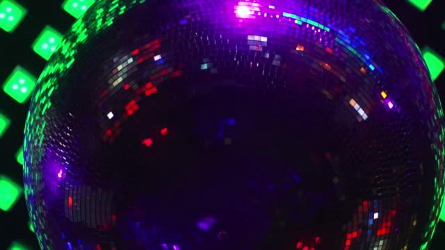 HD Rotating disco ball close-up (loopable)