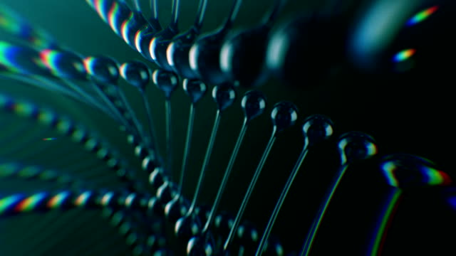 rotating dna. genetic scientific concept - cloning stock videos and b-roll footage