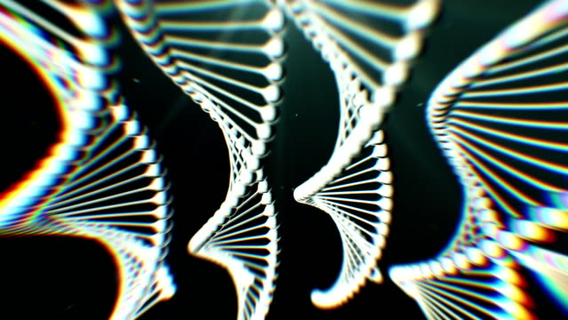dna rotante. concetto scientifico genetico - clonazione video stock e b–roll