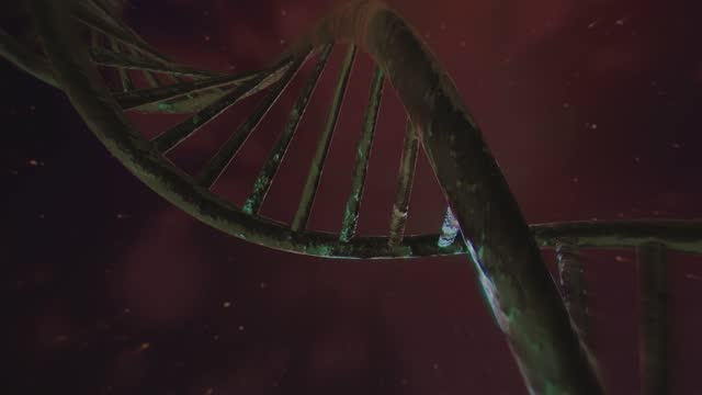 4k rotating dna sequence. realistic background. 3d animation - plexus stock videos & royalty-free footage