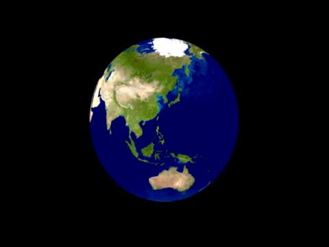 Rotierende Erde springe nach 10 Sekunden (Nur NTSC