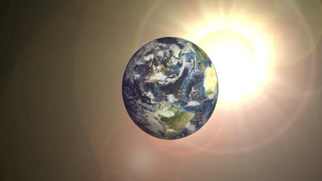 Rotação de terra no espaço levitated