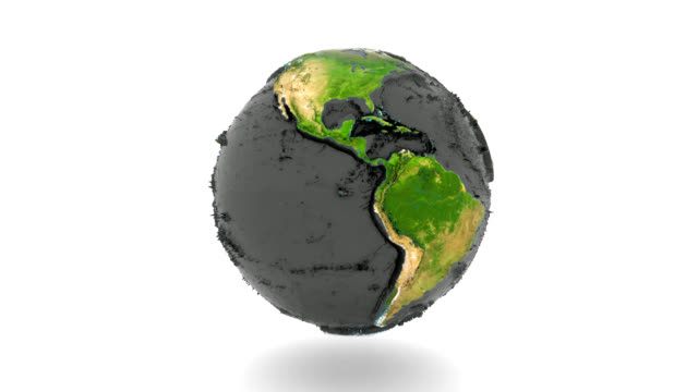Rotating Earth with relief