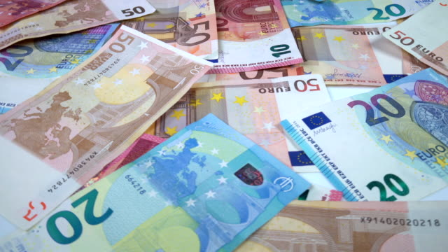 rotating euro banknotes - banknote stock videos & royalty-free footage
