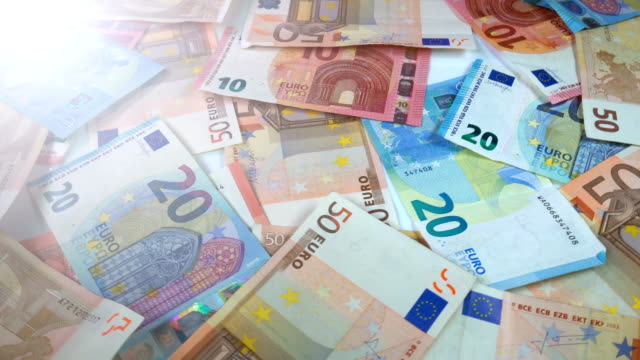 rotating euro banknotes - drehen stock videos & royalty-free footage