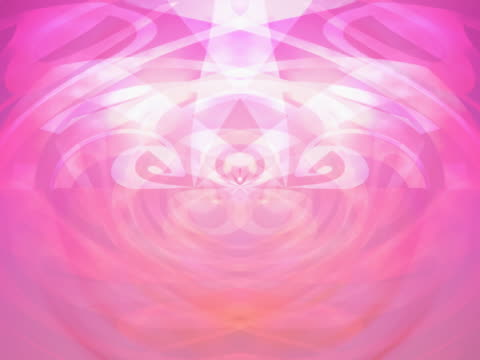 Rotating fanciful curlicues in shades of pink