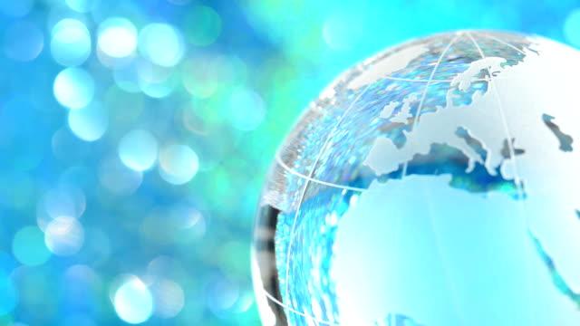 Rotating glass globe - Europe & North America