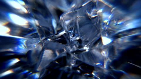 stockvideo's en b-roll-footage met rotating glass motion background - kostbare edelsteen