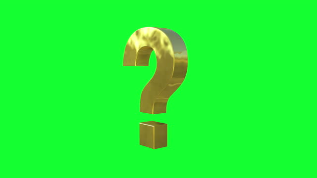 rotating gold question mark on green screen - question mark stock videos & royalty-free footage