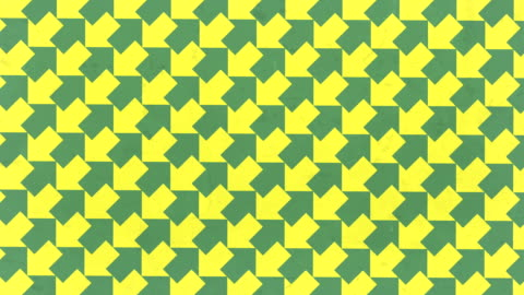 rotating green and yellow arrows optical illusion. abstract fun motion background. digital seamless loop animation. 3d rendering. 4k, ultra hd resolution - illusion stock videos & royalty-free footage