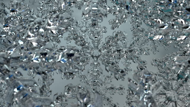 Rotating Ice Crystals with DoF Blue (loop)