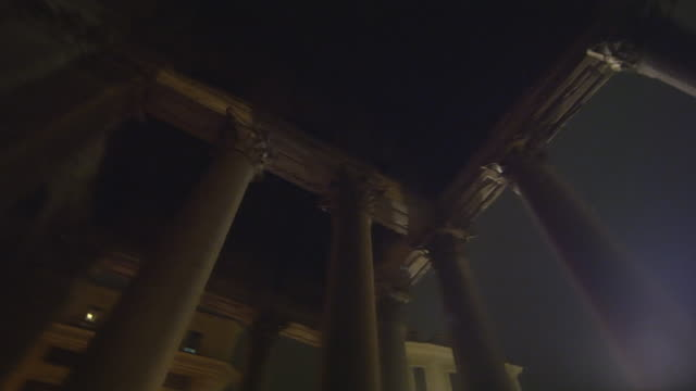 rotating, low angle footage of pantheon columns - ancient rome stock videos & royalty-free footage