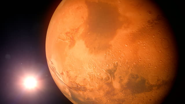 rotating mars and sun - atmosphere stock videos & royalty-free footage