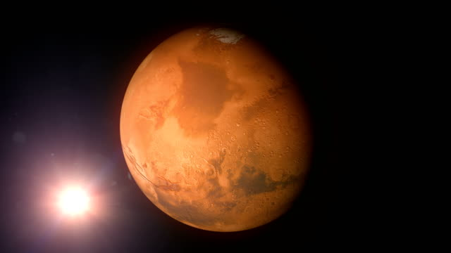 rotating mars and sun - space exploration stock videos & royalty-free footage