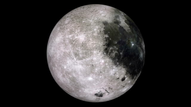 rotating moon - moon stock videos & royalty-free footage
