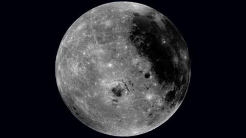 vidéos et rushes de rotating moon - lune