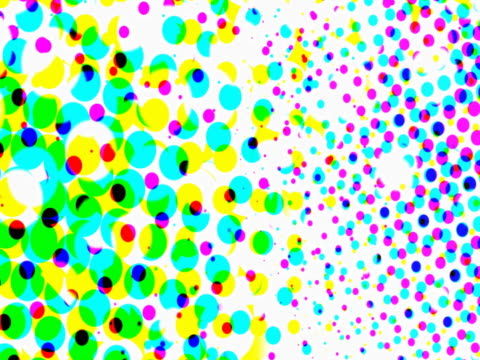 stockvideo's en b-roll-footage met rotating multicolored dots - stippen