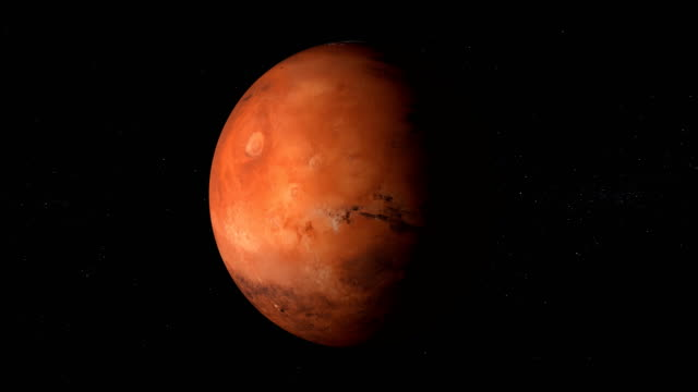 rotating planet mars in space with black hole - image stock videos & royalty-free footage