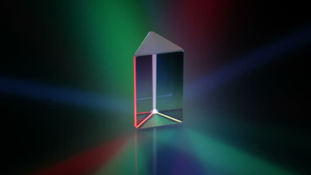 Rotating prism in coloured light