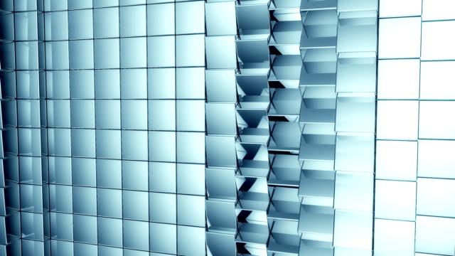 rotating, reflective cubes background